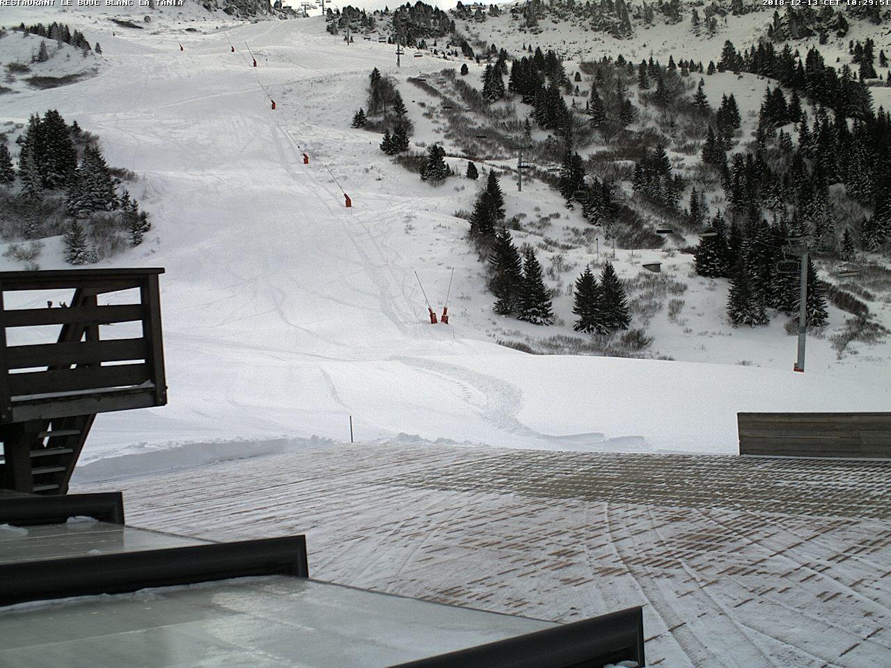 Webcam en La Tania - Bouc Blanc, Les 3 Vallees (Alpes Franceses)